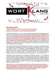 WortKlang 2012: Andreas Bourani und Dominique Horwitz ... - Iserlohn