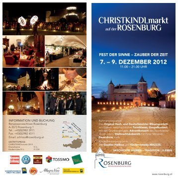 CHRISTKINDLmarkt - Rosenburg