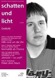 schatten und licht 3/2009 schatten und licht 3/2009 - eva