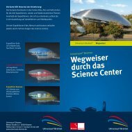 Wegweiser durch das Science Center - Universum Bremen