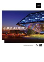 Licht und Schatten - L.U.X. Beleuchtungskonzepte