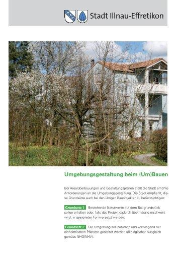 Umgebungsgestaltung beim (Um)Bauen - Stadt Illnau-Effretikon