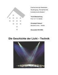 Die Geschichte der Licht – Technik - Eventtechniker.de