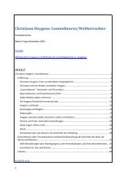 Christiaan Huygens Cosmotheoros Weltbetrachter - Maria Trepp