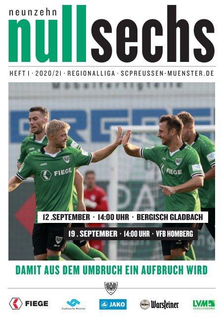 nullsechs Stadionmagazin - Heft 1 2020/21