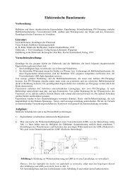 Elektronische Bauelemente - Didaktik der Physik an der Universität ...