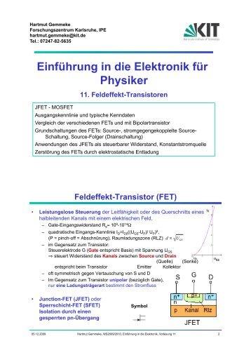 in die Elektronik für Physiker