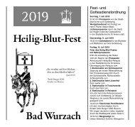 Festschrift Hl. Blutfest 2019