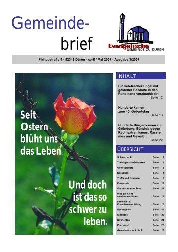Gemeinde- brief - Evangelische Gemeinde zu Düren