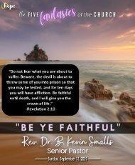 Outdoor Communion Service September 13, 2020 Bulletin Fifteenth Sunday After Pentecost v