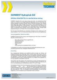 DURIMENT Hydrophob Sil2 SPEZIAL ... - Betontechnik
