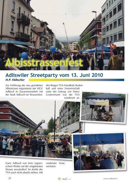 Adliswiler Turner vom September 2010 - Turnverein Adliswil
