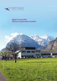 Rapport annuel 2010 - Klimastiftung Schweiz