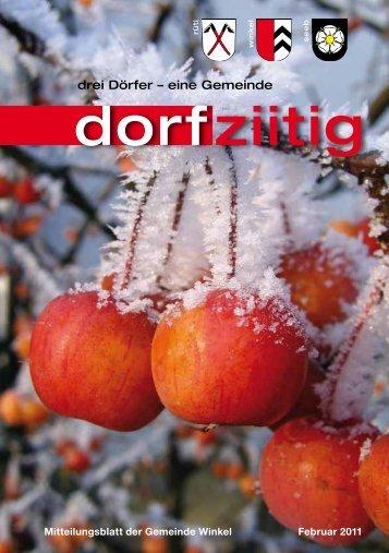 Dorfziitig Februar 2011 - Gemeinde Winkel