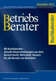 U1 Buchkalender 1..1 - Betriebs-Berater