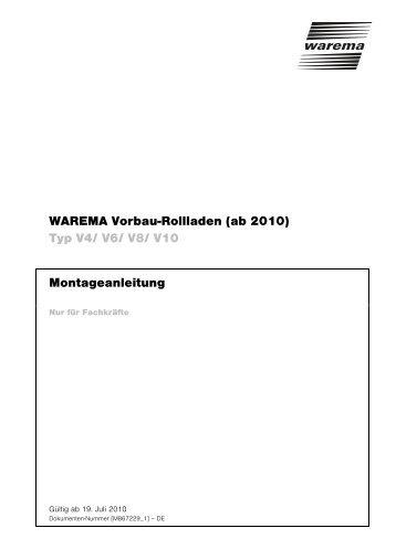 WAREMA Vorbau-Rollladen (ab 2010) - Finkeisen Sonnenschutz