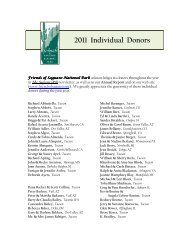 2011 Individual Donors - Friends of Saguaro National Park