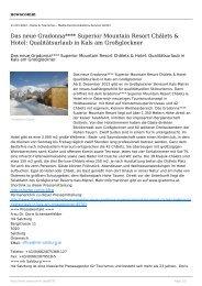 Das neue Gradonna**** Superior Mountain Resort ... - newscomm