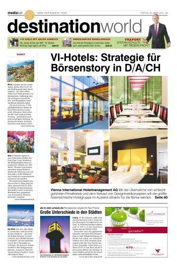 VI-Hotels: Strategie für Börsenstory in D/A/CH - MediaNET.at