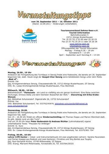 vom 26. September 2011 - Tourismusverband Dahme-Seen eV