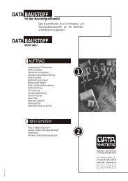 DATA DATA BAUSTOFF BAUSTOFF - DATA SYSTEMS