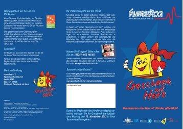Geschenk mit Herz Flyer 2012