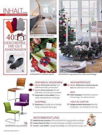 Zuhausewohnen De 6 free magazines from zuhausewohnen de