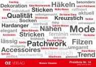Stricken Häkeln Sticken Nähen Patchwork Filzen ... - OZ Verlag