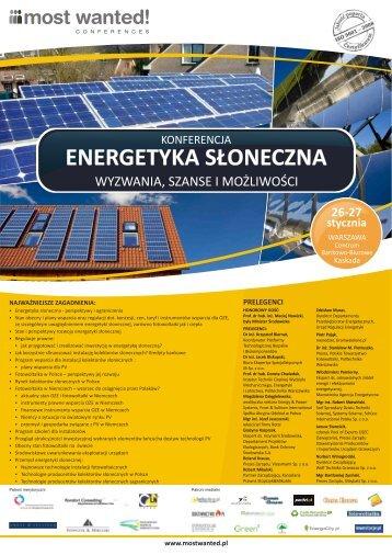 ENERGETYKA S£ONECZNA - Polskie Towarzystwo Energetyki ...