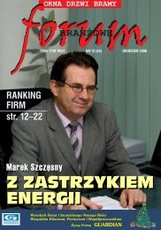 RANKING FIRM str. 12–22 - Forum Branżowe