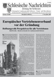 Europäischer Vertriebenenverband vor der Gründung