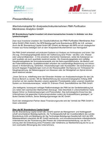neu 2301 08 PMA GmbH - BC Brandenburg Capital