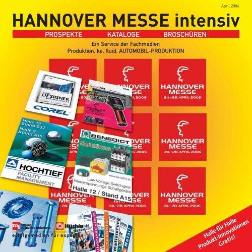 Halle 4 HANNOVER MESSE intensiv - Produktion