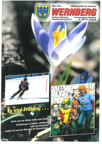 Mitteilungsblatt - März 2012 - Gemeinde Wernberg