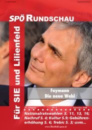 Kultur S.9; Gebühren- erhöhung S. 6 - SPÖ Lilienfeld