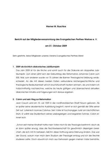 Bericht EPW-Mitgliederversammlung-2009 - Evangelisches Perthes ...