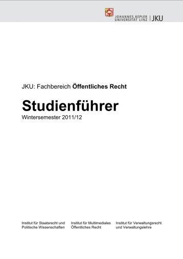 Fachbereich Öffentliches Recht - Institut für Verwaltungsrecht und ...
