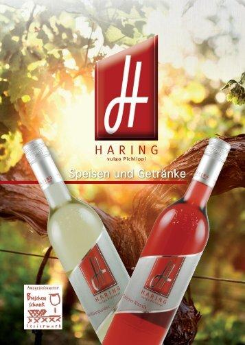 Speisen und Getränke - Weinbau Haring vlg. Pichlippi