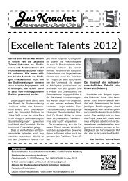 JusKnacker Sonderausgabe Excellent Talents - StV Juridicum ...