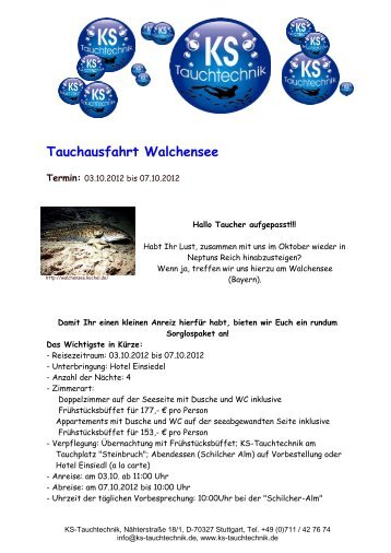 Tauchausfahrt Walchensee - Colonia Diver