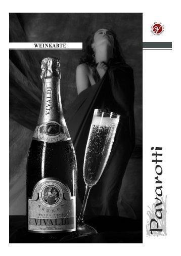 Weinkarte - Restaurant Pavarotti
