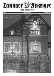 Jahresanzeiger 2011 - Stadtverwaltung Tanna