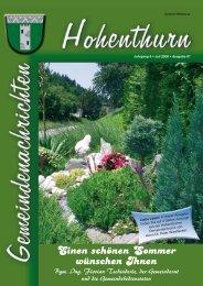 Einen schönen Sommer wünschen Ihnen - Gemeinde Hohenthurn