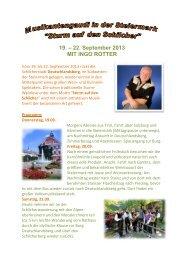 22. September 2013 MIT INGO ROTTER - Reisedienst Alpbachtal