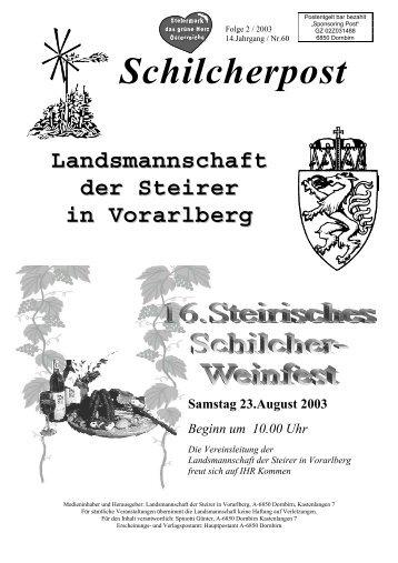 Mindestteilnehmerzahl: 25 Personen - Landsmannschaft der Steirer ...