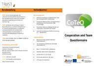 Cooperation and Team Questionnaire - TRUST - TeamwoRk in ...