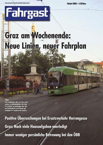 Graz am Wochenende: Neue Linien, neuer Fahrplan - FAHRGAST ...