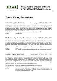 Tours, Visits, Excursions