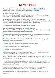 Kurze Chronik - ff-bernhardschlag