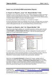 Tipps zu SchILD Seite 1 von 2 Import von mit SchILD ... - Schildhilfen